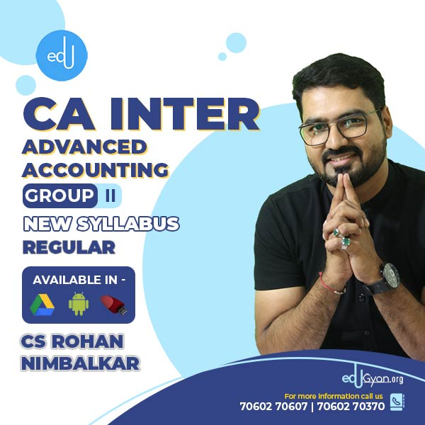 CA Inter Advanced Accounting By CS CMA Rohan Nimbalkar