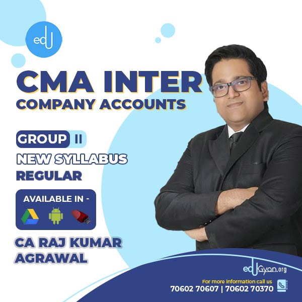 CMA Inter Company Accounts By CA Raj K Agrawal