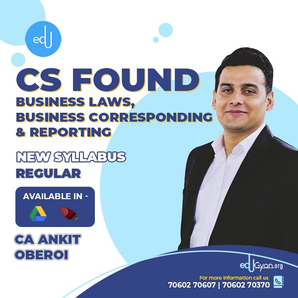 CA Foundation Business Laws & Correspond. By CA Ankit Oberoi