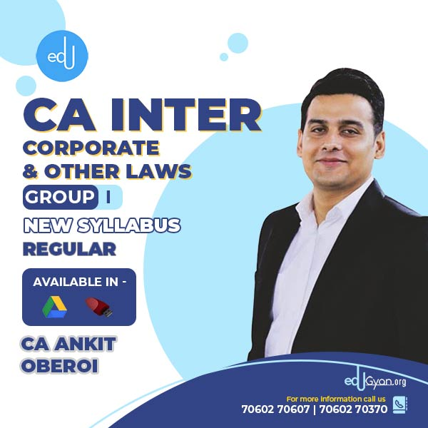 CA Inter Corporate & Other Laws By CA Ankit Oberoi