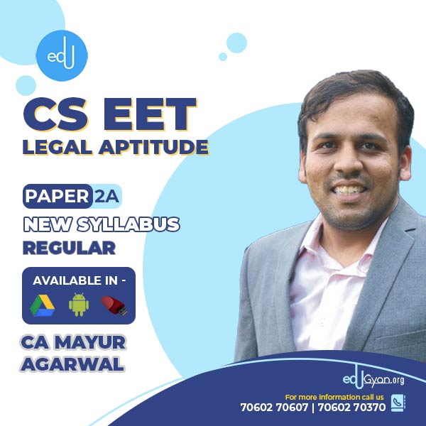 CSEET Legal Aptitude By CA Mayur Agarwal