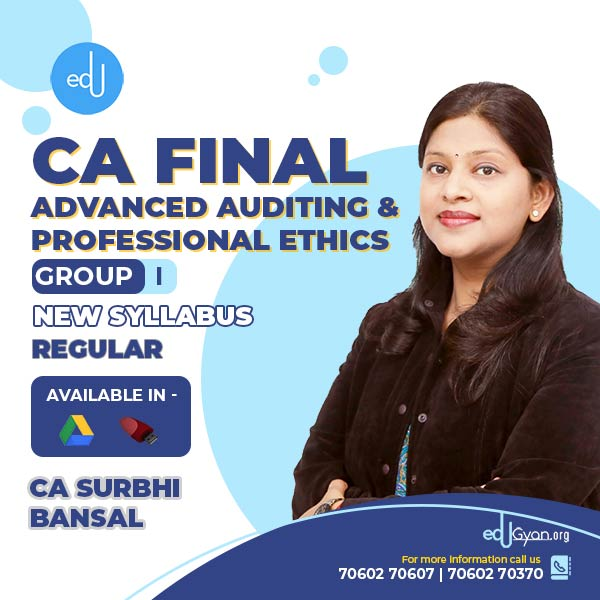 CA Final Advanced Auditing By CA Surbhi Bansal