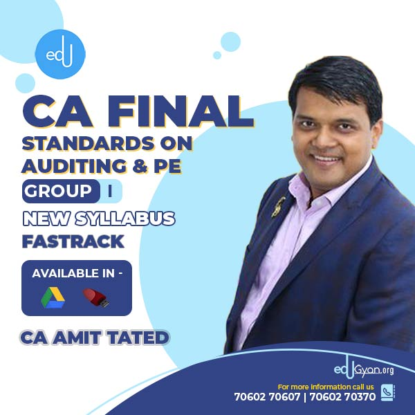 CA Final Standards On Auditing & PE Fast Track By CA Amit Tated