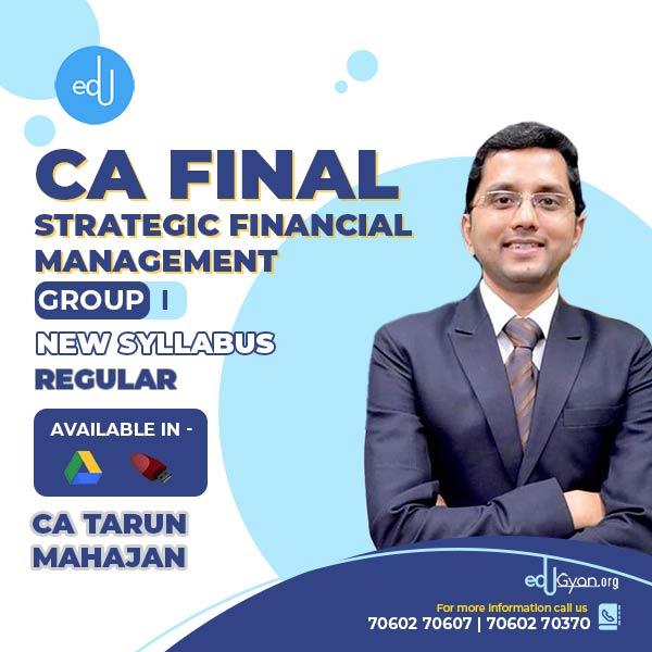 CA Final Strategic Financial Management By CA Tarun Mahajan