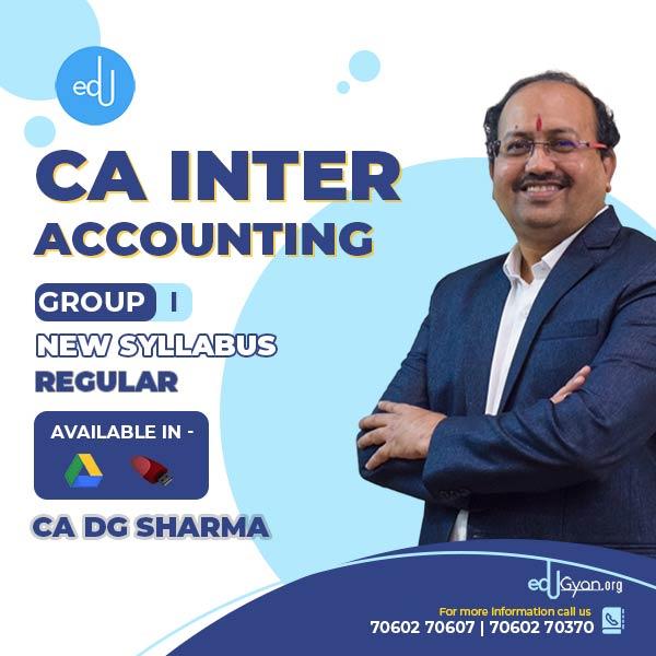 CA Inter Accounting By CA DG Sharma
