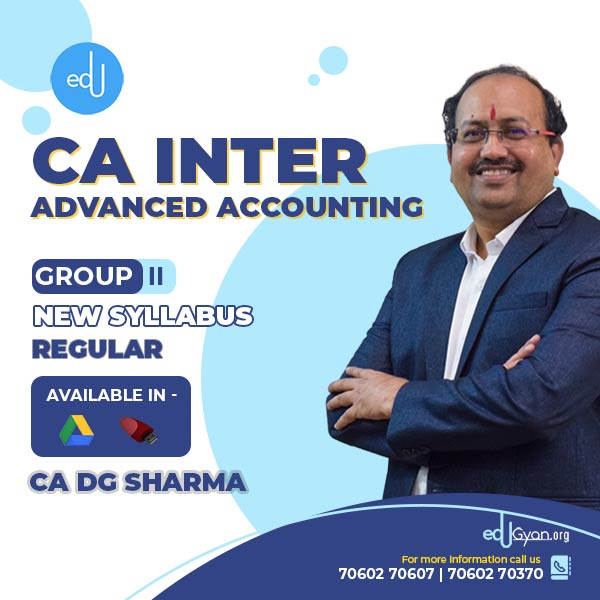 CA Inter Advanced Accounting By CA DG Sharma