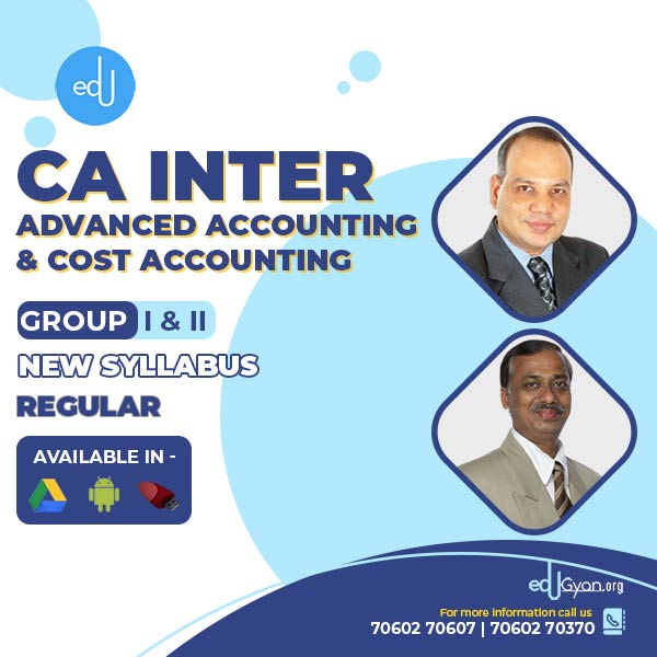 CA Inter Advanced Accounting & Costing Combo By CA Vinod Agarwal & Rakesh Agrawal