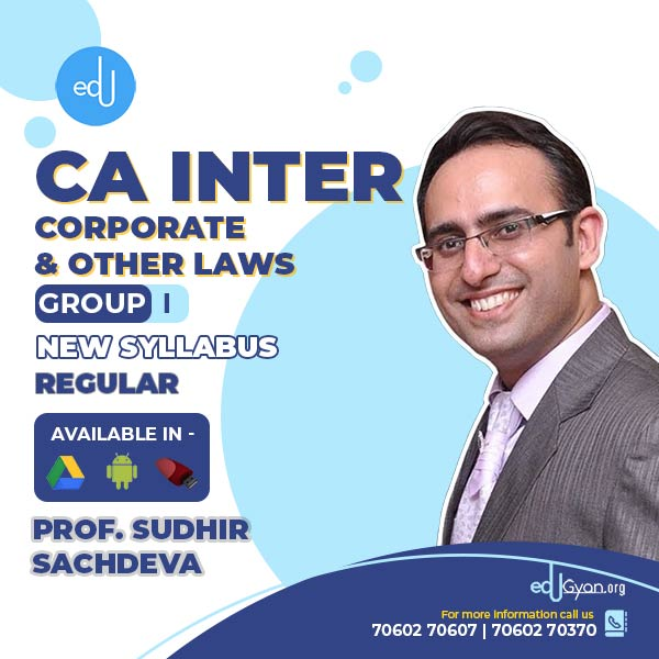 CA Inter Corporate & Other Laws By Prof Sudhir Sachdeva