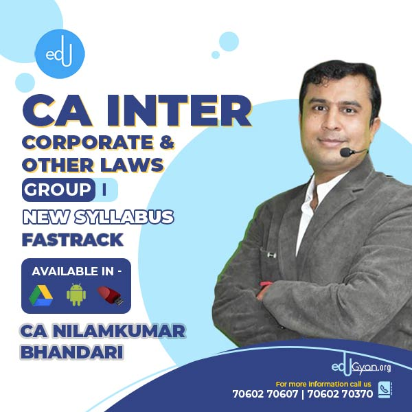 CA Inter Corporate & Other Laws Fast Track By CA Nilamkumar Bhandari