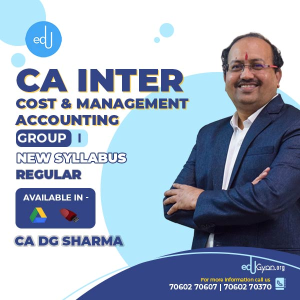 CA Inter Cost & Management Accounting By CA DG Sharma