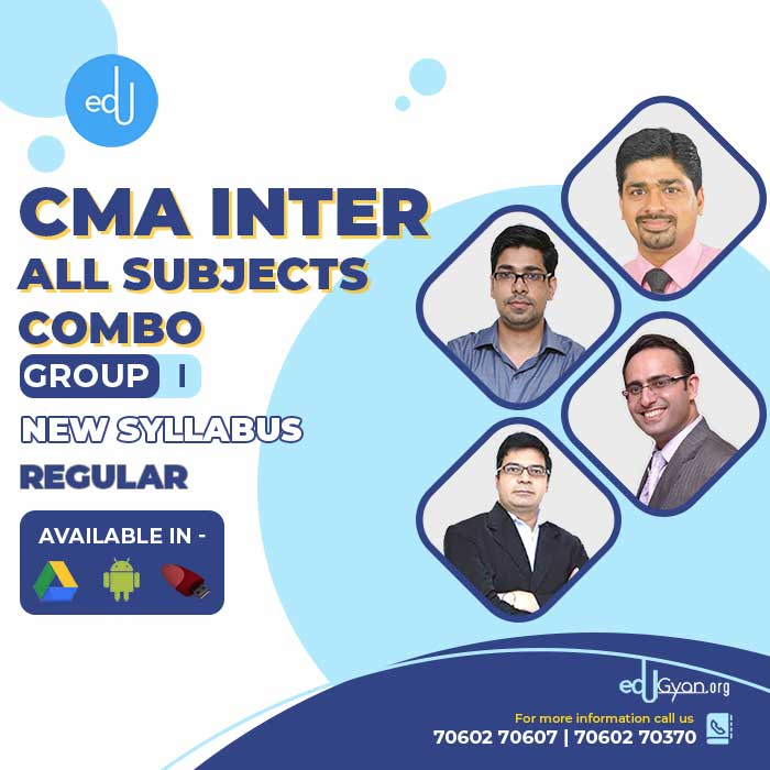 CMA Inter Group- I All Subjects Combo By Concept Online Classes