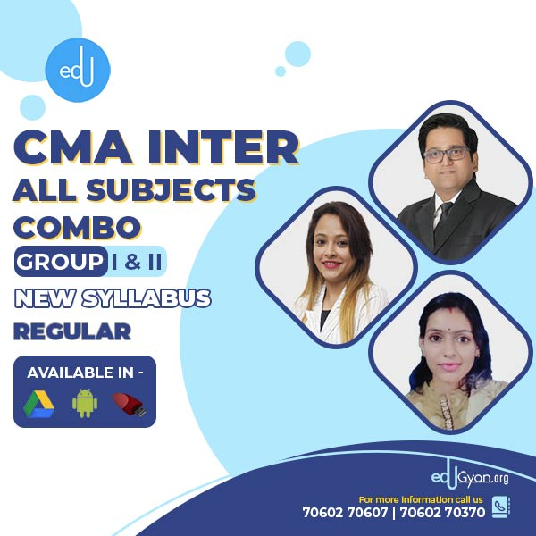 CMA Inter Group- I & II All Subjects Combo By SAH Academy