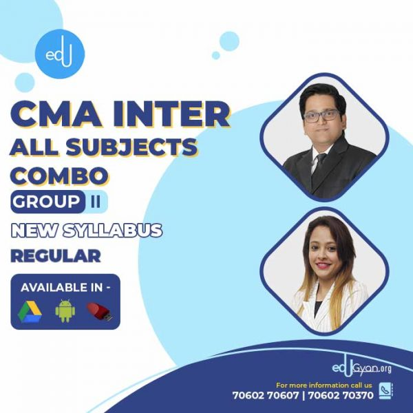 CMA Inter Group- II All Subjects Combo By SAH Academy