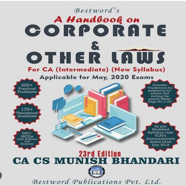 CA Inter Corporate & Other Laws Handbook By CA Munish Bhandari