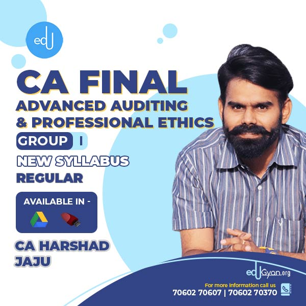 CA Final Advanced Auditing By CA Harshad Jaju