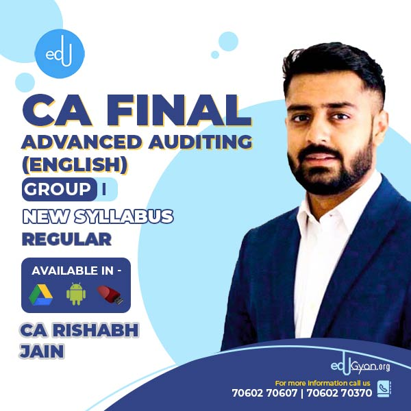 CA Final Advanced Auditing By CA Rishabh Jain (English)