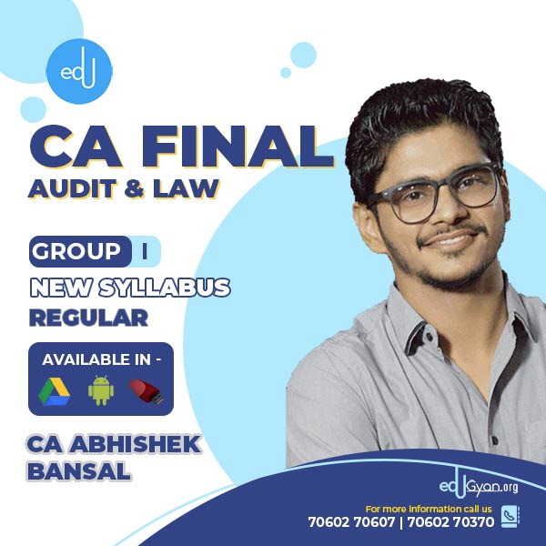 CA Final Audit & Laws Combo By CA Abhishek Bansal