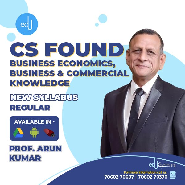 CA Foundation Business Economics & BCK By CA Pawan & Prof. Arun Kumar