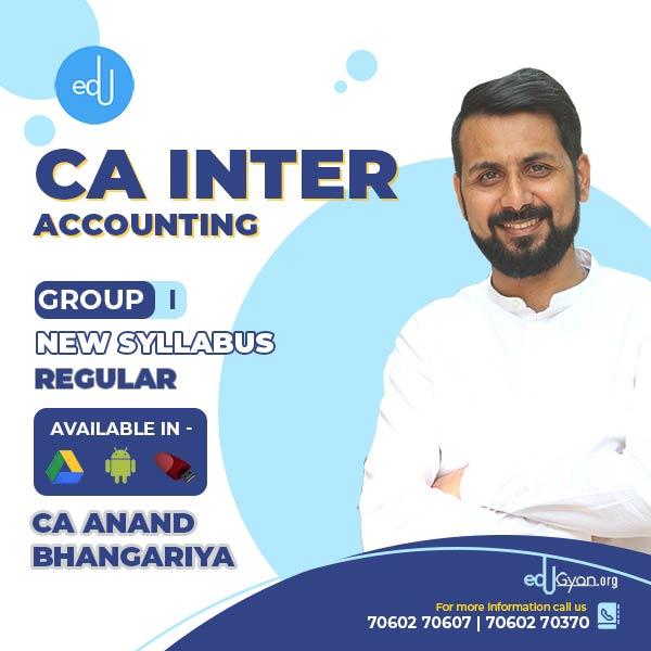 CA Inter Accounting By CA Anand Bhangariya