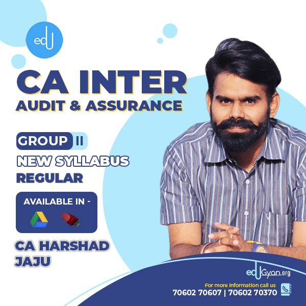 CA Inter Audit & Assurance By CA Harshad Jaju