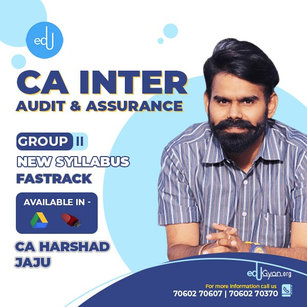 CA Inter Audit & Assurance Fast Track By CA Harshad Jaju