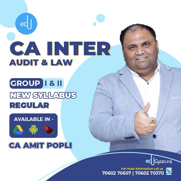 CA Inter Audit & Law Combo By CA Amit Popli