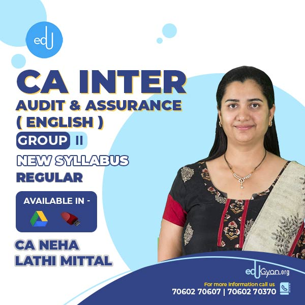 CA Inter Audit & Assurance By CA Neha Lathi Mittal (English)