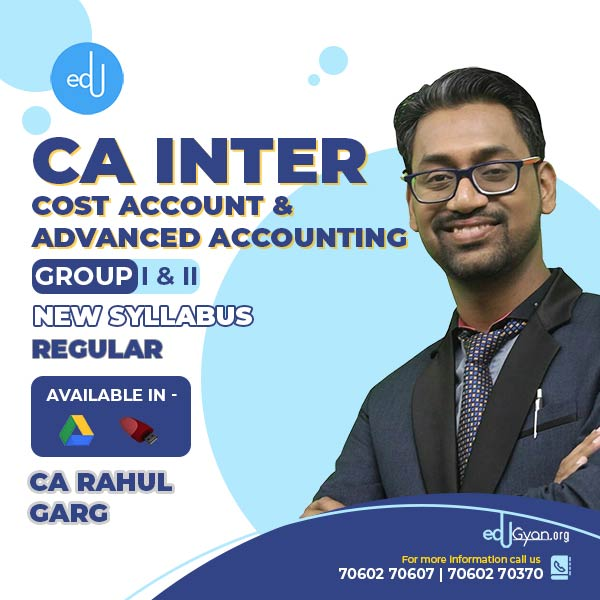 CA Inter Cost Account & Advanced Accounting Combo by CA Rahul Garg