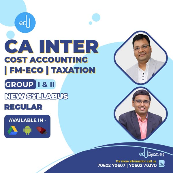 CA Inter Cost | FM-Eco | Taxation Combo By CA Satish Jalan & Nikunj Goenka