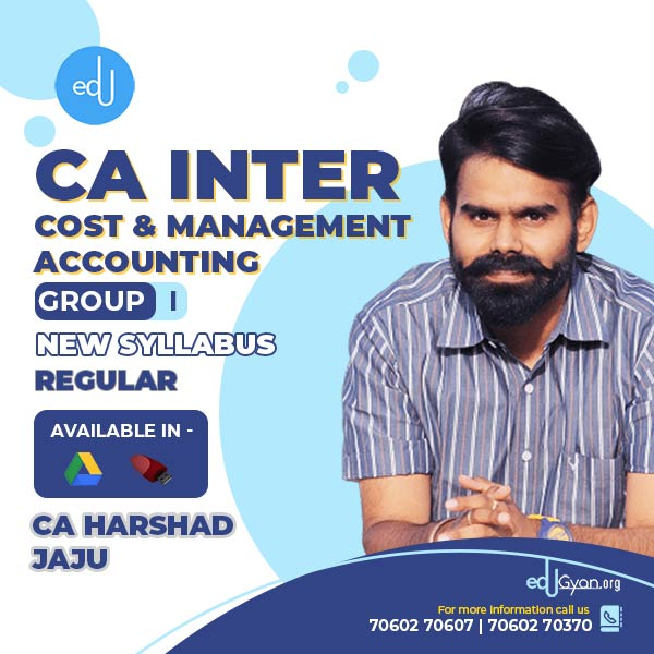 CA Inter Cost & Management Accounting By CA Harshad Jaju