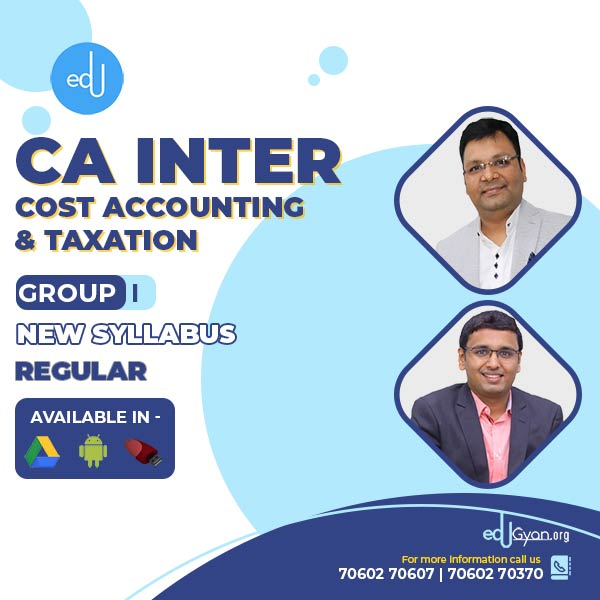 CA Inter Cost & Taxation Combo By CA Satish Jalan & Nikunj Goenka