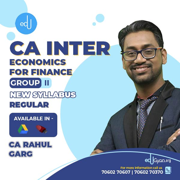 CA Inter Economics For Finance By CA Rahul Garg