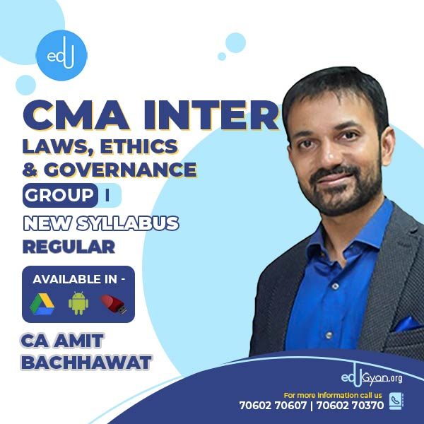 CMA Inter Laws, Ethics & Governance By CA Amit Bachhawat