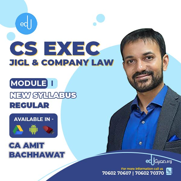 CS Executive JIGL & Company Law Combo By CA Amit Bachhawat