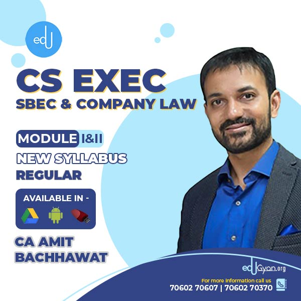 CS Executive SBEC & Company Law Combo By CA Amit Bachhawat