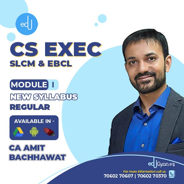 CS Executive SLCM & EBCL Combo By CA Amit Bachhawat