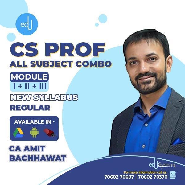 CS Professional Module I + II + III + Guidance Combo By CA Amit Bachhawat
