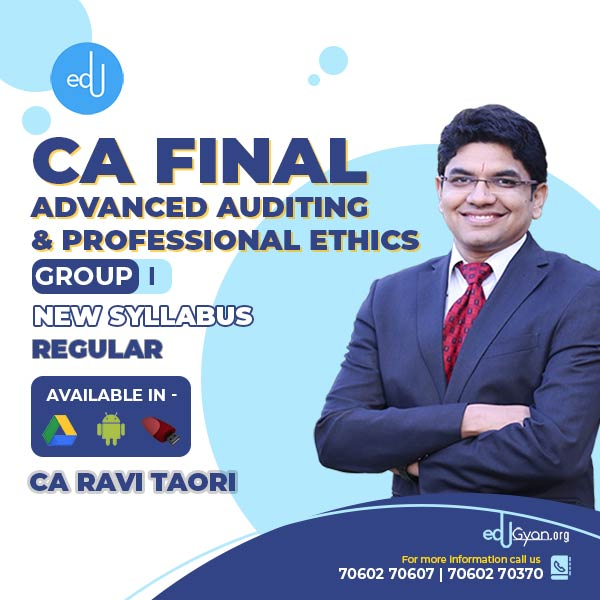CA Final Advanced Auditing By CA Ravi Taori