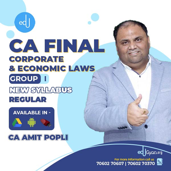 CA Final Corporate & Economic Laws By CA Amit Popli