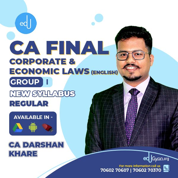CA Final Corporate & Economic Laws By CA Darshan Khare