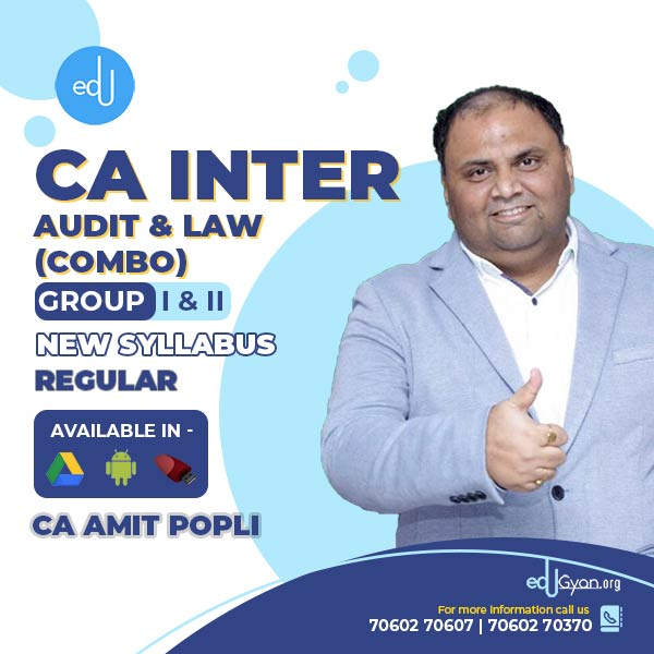CA Inter Audit & Law Combo By CA Amit Popli