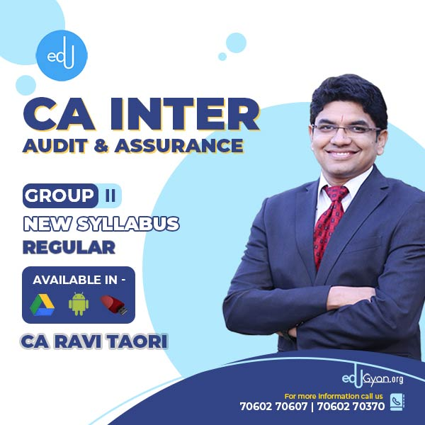 CA Inter Audit & Assurance By CA Ravi Taori