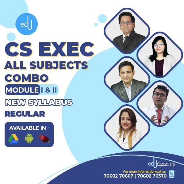 CS Executive Module- I & II All Subjects Combo By SAH Academy