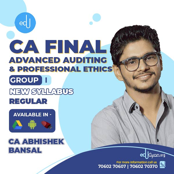 CA Final Advanced Auditing By CA Abhishek Bansal