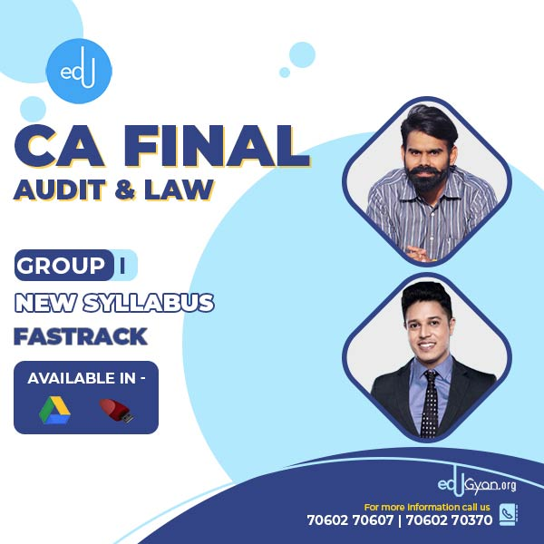 CA Final Audit & Law Fast Track Combo By CA Harshad Jaju & CA Swapnil Patni