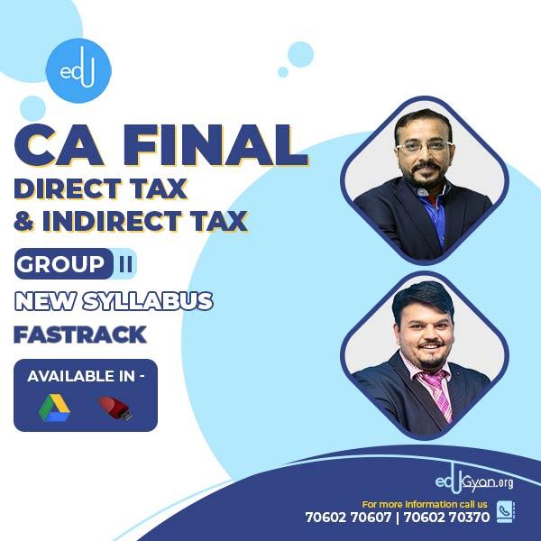 CA Final DT & IDT Fast Track Combo By CA Vijay Sarda & CA Vishal Bhattad