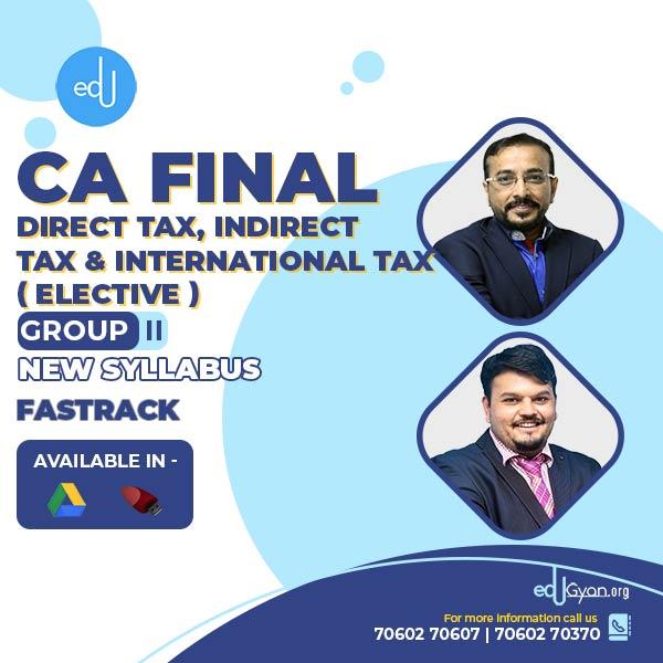 CA Final DT+IDT+I.Tax Elective Fast Track Combo By CA Vijay Sarda & CA Vishal Bhattad