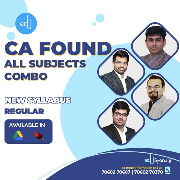 CA Foundation All Subjects Combo By AVJ Academy