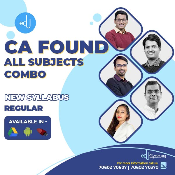 CA Foundation All Subjects Combo By IndigoLearn
