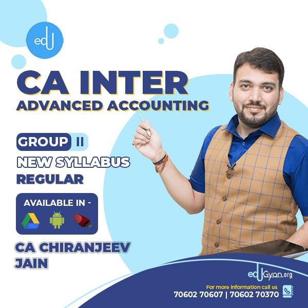 CA Inter Advanced Accounting By CA Chiranjeev Jain